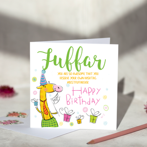 Fuffar Hashtag Birthday Card