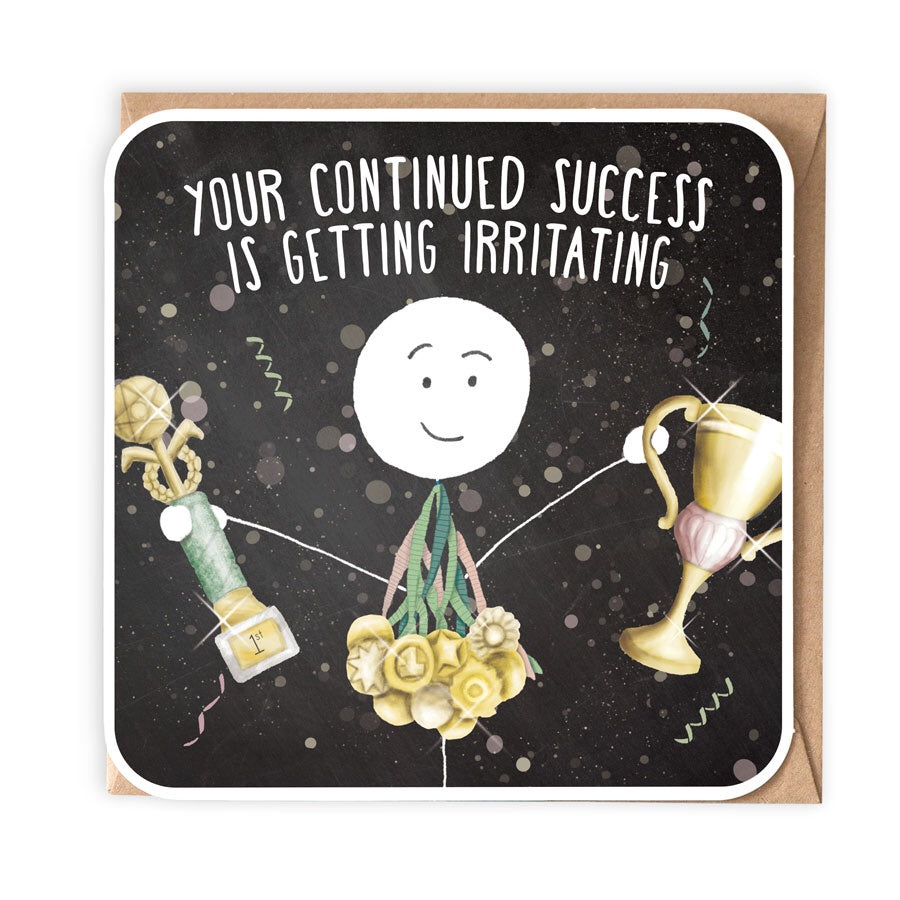 CONTINUED SUCCESS GREETING CARD