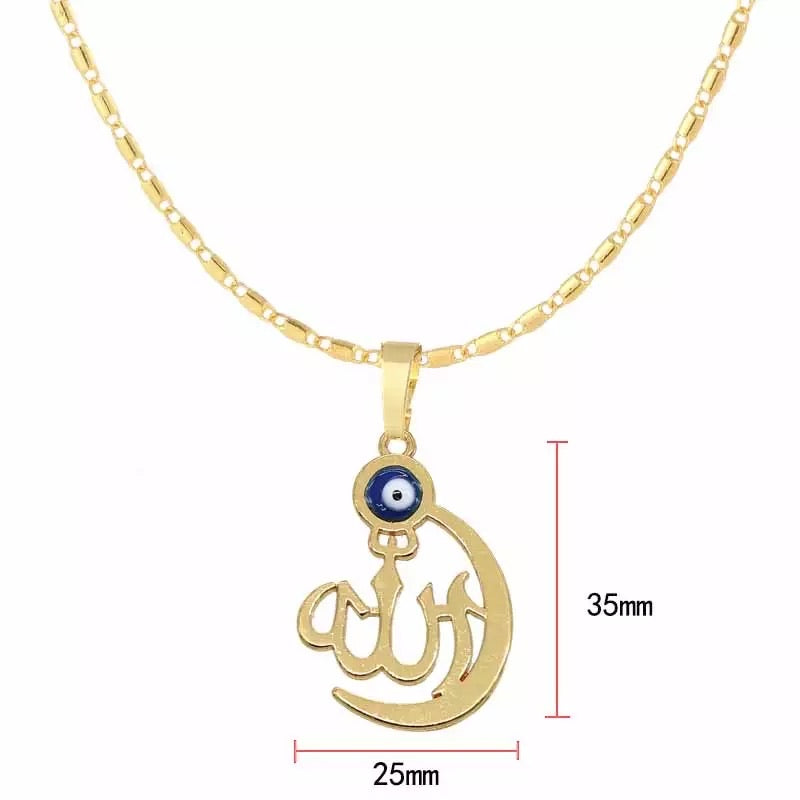 Allah Evil Eye Necklace