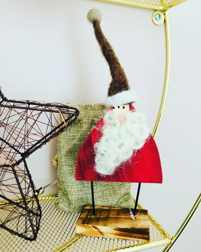 Standing Fabric Santa Decoration
