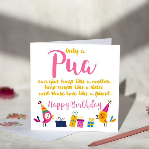 Only a Pua Birthday card