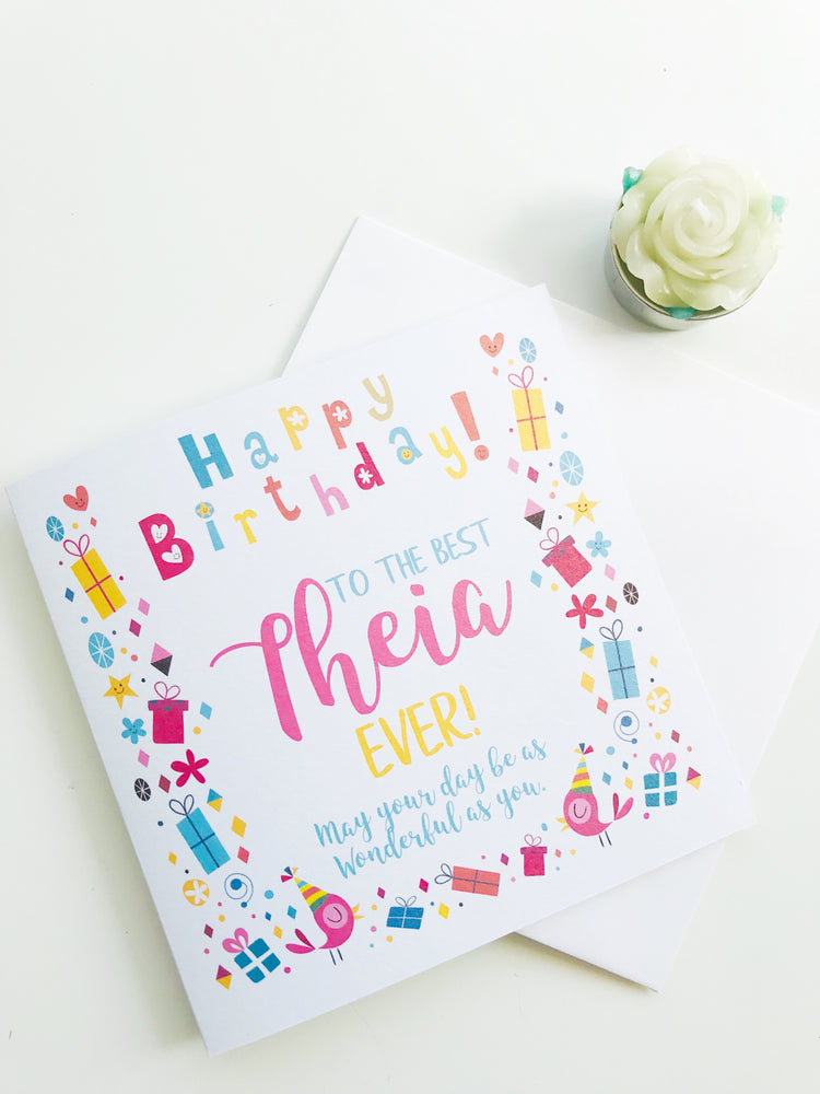 Theia Birthday Card