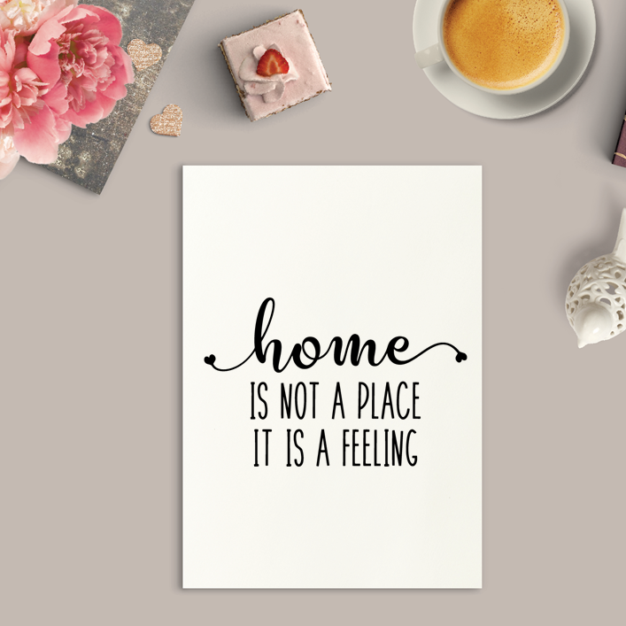 Home Is Not A Place Art Print or Framed