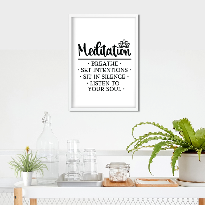Meditation A4 Framed Print