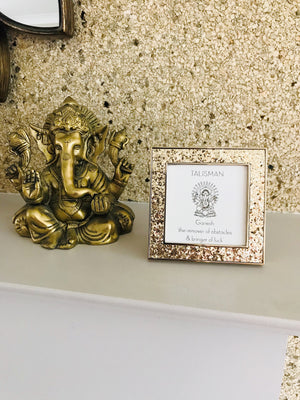 Ganesh Mini Frame In Gold