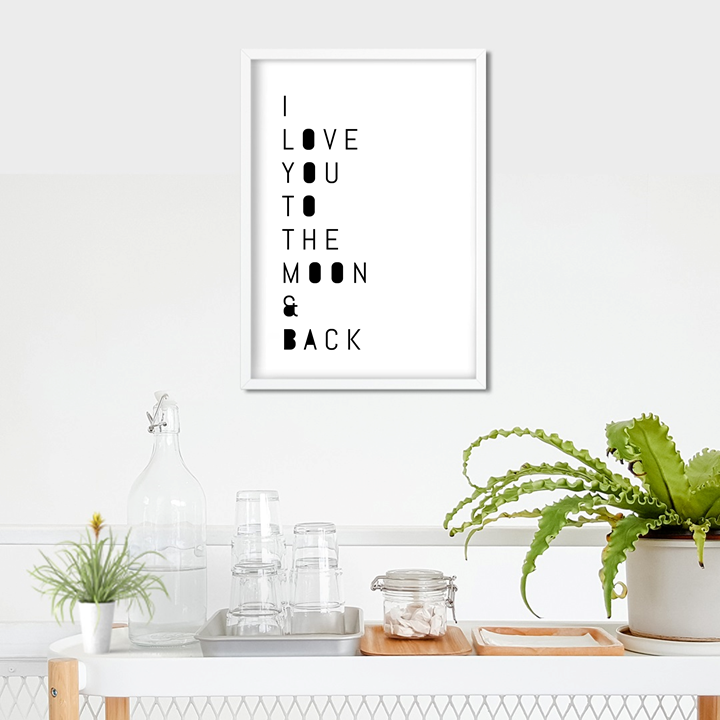 I Love You To The Moon And Back Art Print or Framed