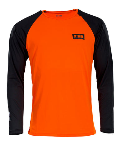 JetSurf T-shirt DRYFIT LONG SLEEVE SHIRT BLACK/ORANGE