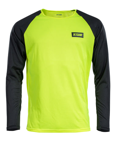 JetSurf T-shirt DRYFIT LONG SLEEVE FLUO YELLOW