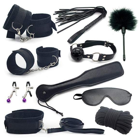 50 SHADES OF HIDDEN: 10 piece Bondage Set