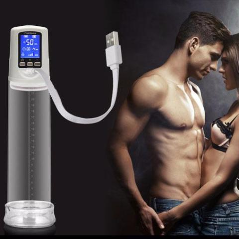 HEATME: Penis Pump with USB Rechargeable, LED Automatic Penis Enlarger
