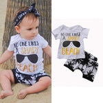 Shady Beach T-Shirt & Shorts 2Pcs Set