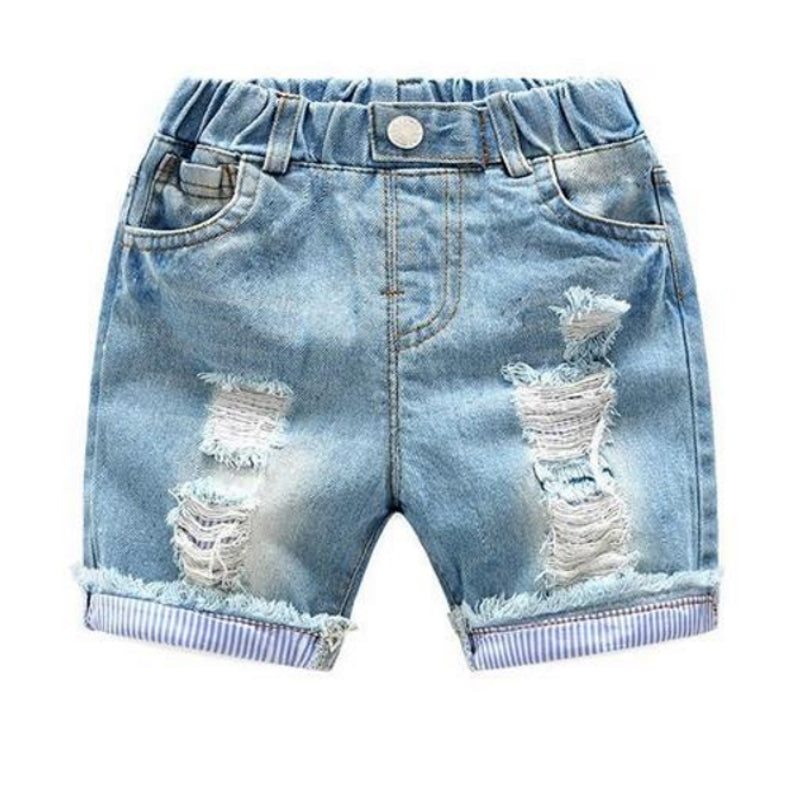 Hip Ripped Denim Shorts