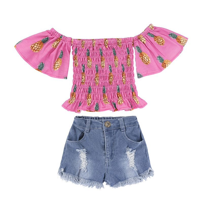 Summer Top+ Shorts 2Pcs Set