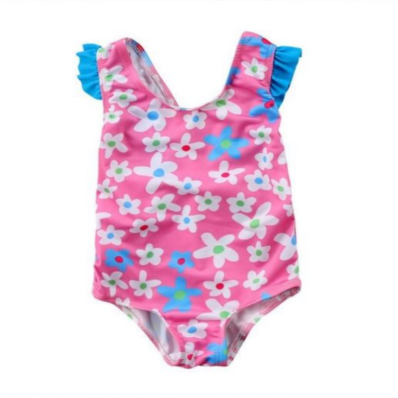 Pink Floral One-piece Swimwear