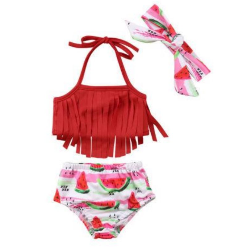 Sweet Watermelon Bathing Suit+Headband