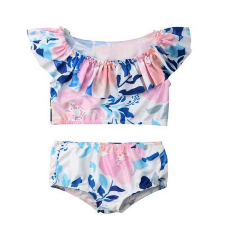 Trendy Floral 2Pcs Swimsuit