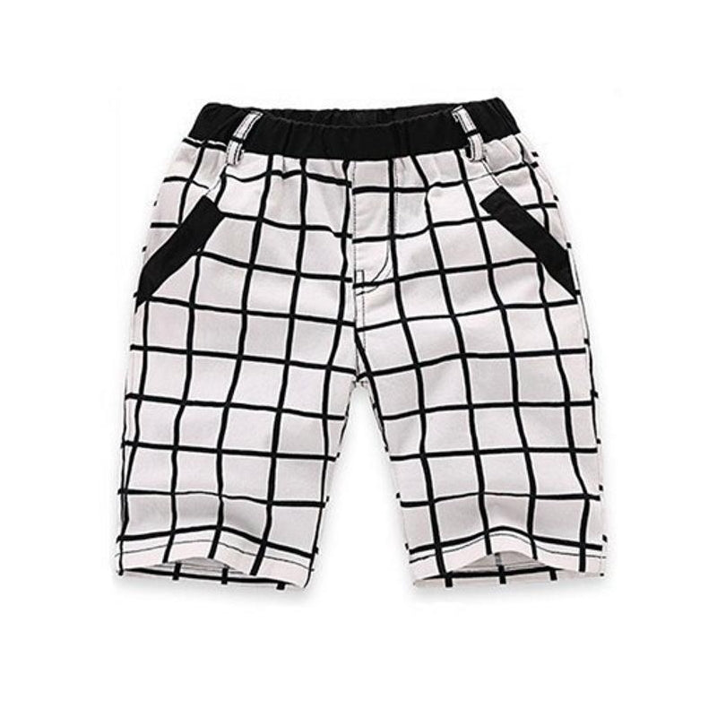 Pockets Plaid Cotton Shorts