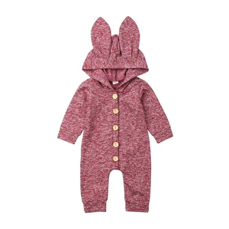 Hooded Bunny Ears One Piece