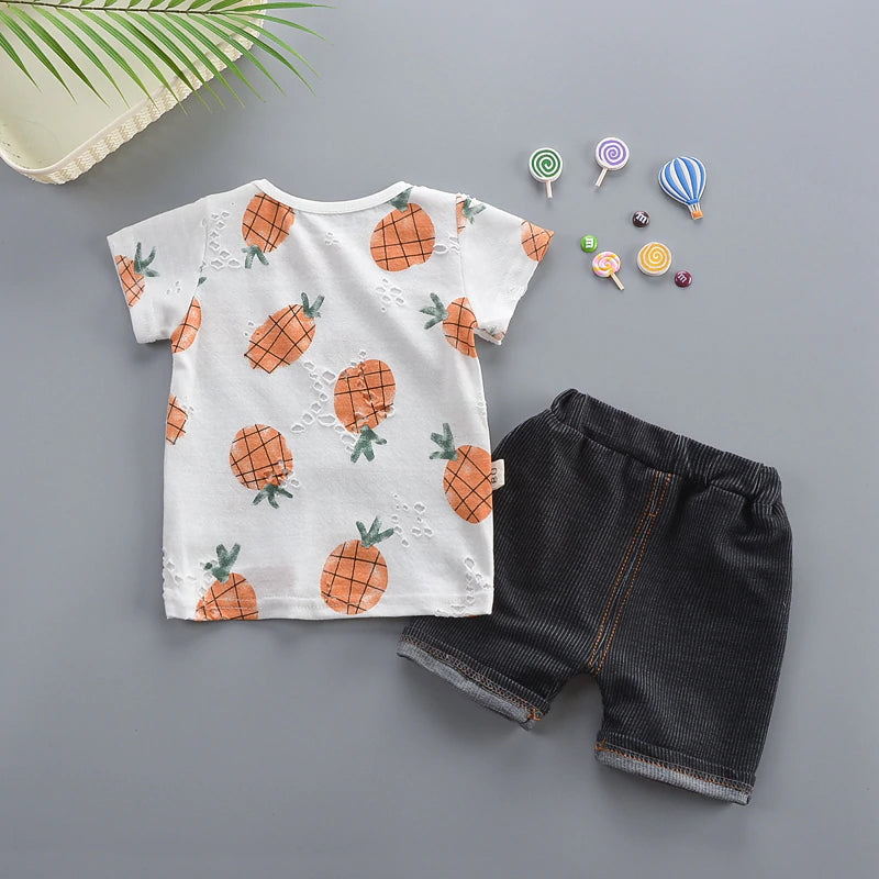 Cool Printed Shirt+ Pants 2Pcs Set