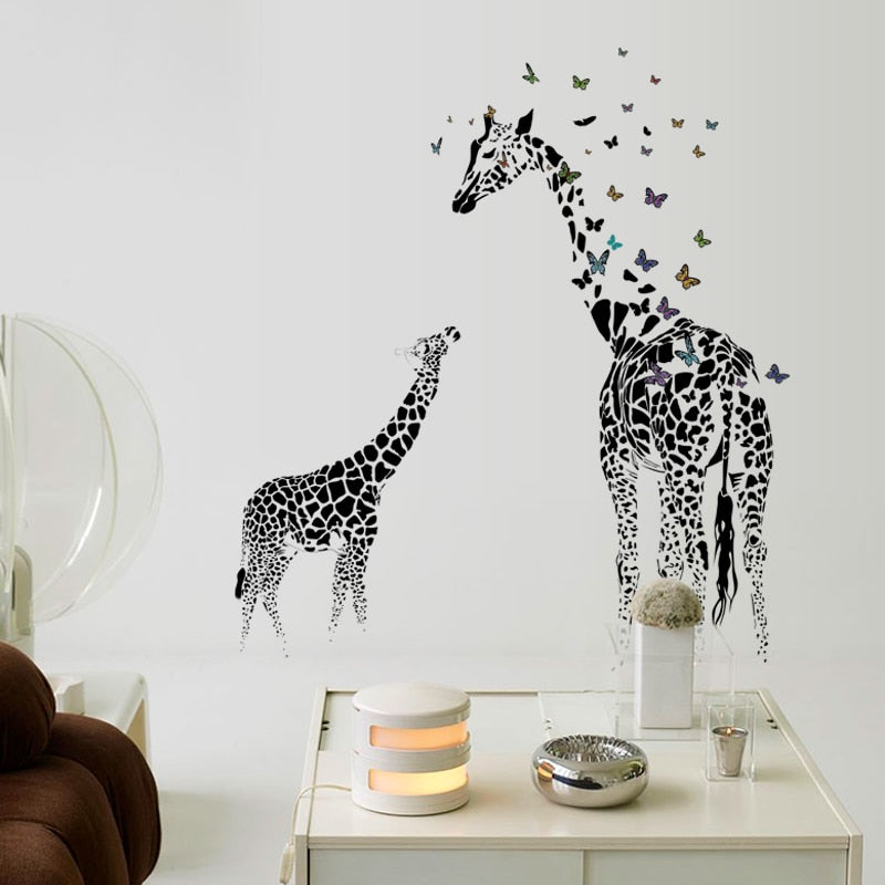3D Giraffe Wall Sticker