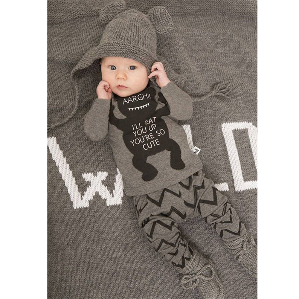 Monster Grey Baby Set