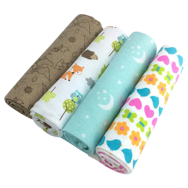 4pcs Flannel Baby Blanket Set
