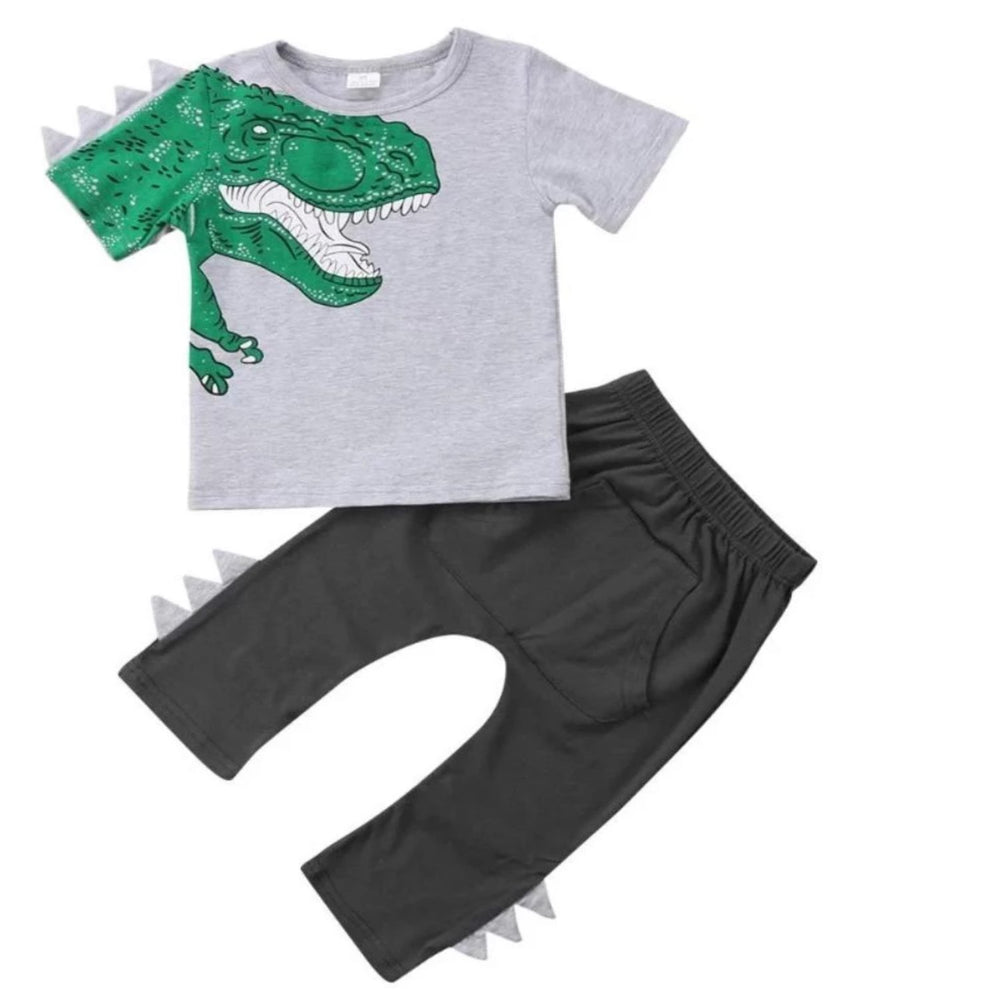 T-Rex Short Sleeves Top+Pants