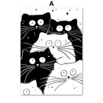 Black & White Cat Wall Art
