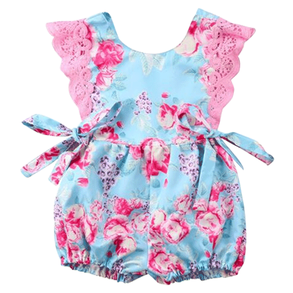 Blue & Pink Summery Romper