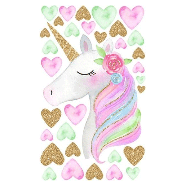 Cute Unicorn Star Wall Decal