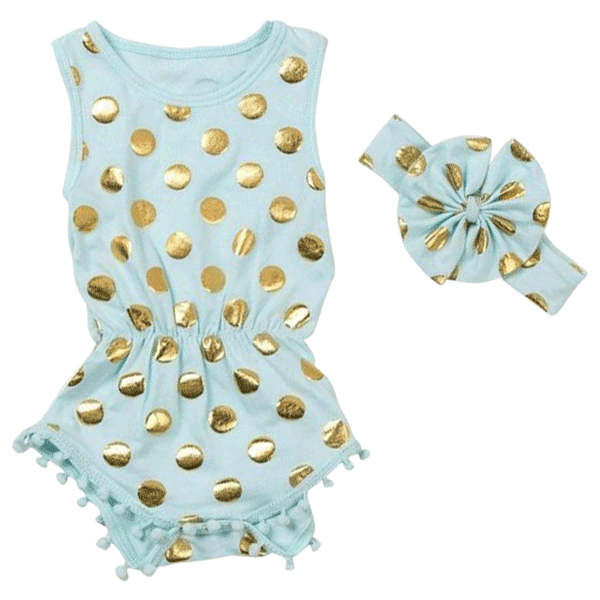 Golden Dot 2PCS Romper
