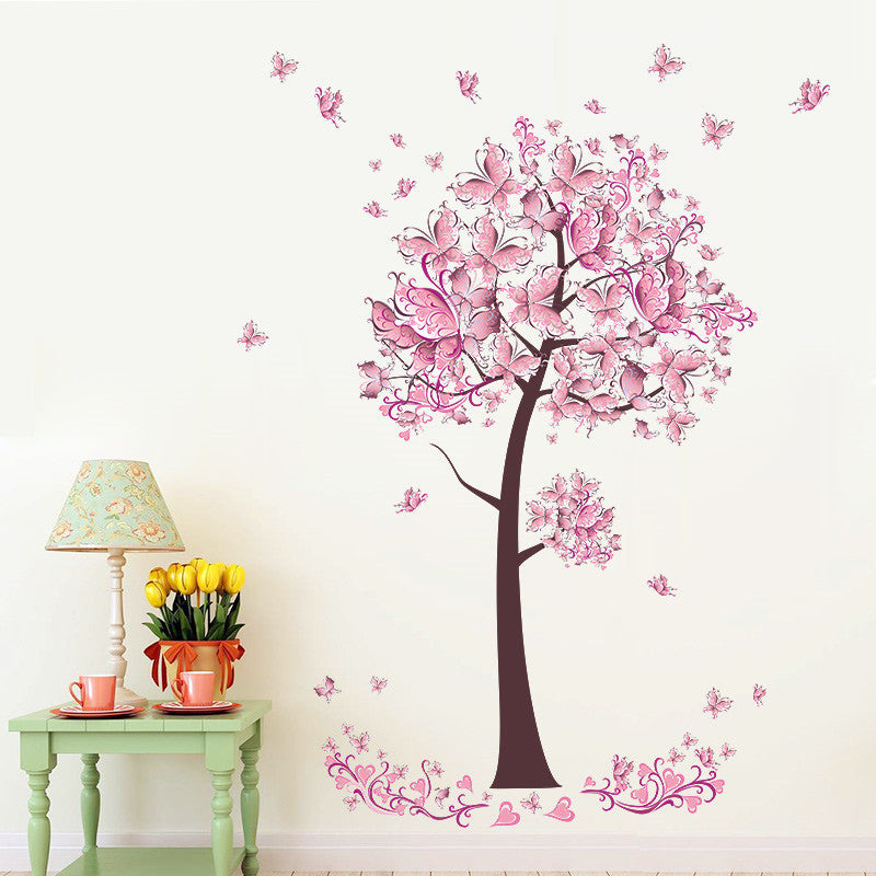 Tree Flower Butterflies Decal