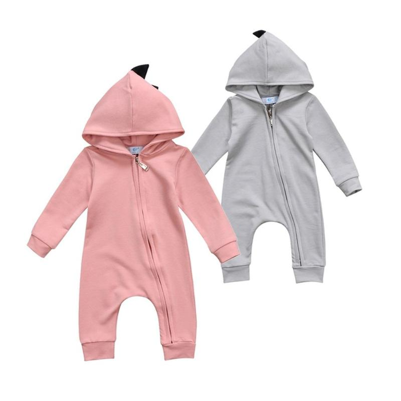 Lovely Dino Hooded Onepiece