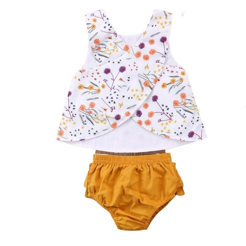 Floral T-shirt + Shorts Set