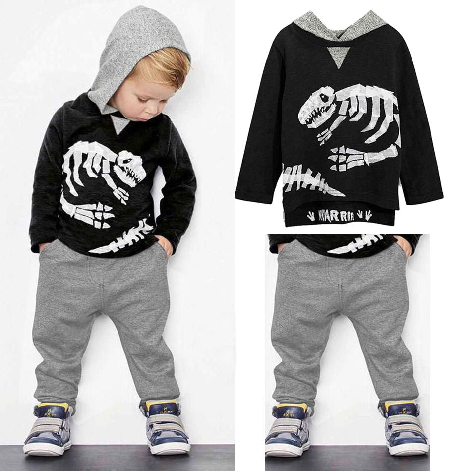 Cool Dino Hooded 2Pcs Set