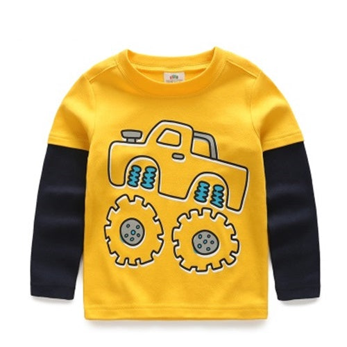 Yellow Tractors Long Sleeves Shirt