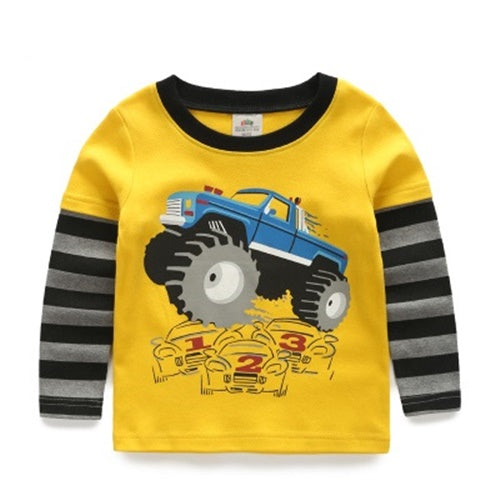 Yellow Truck Sleeves Shirt