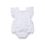 Cute Ruffle Sleeveless Bodysuit