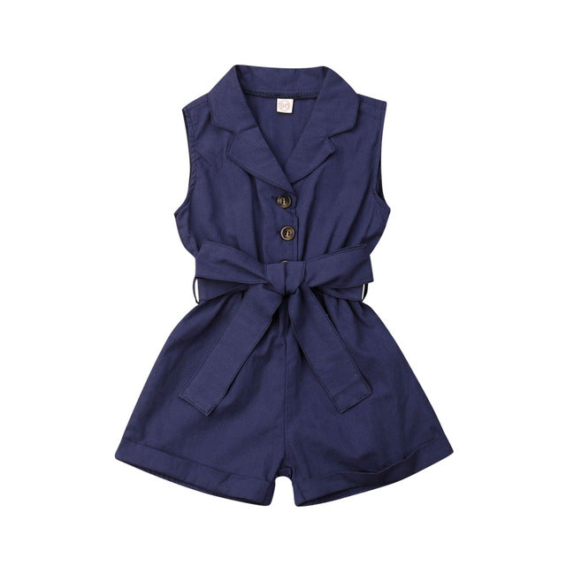 Bow-tie Waist Short Overall