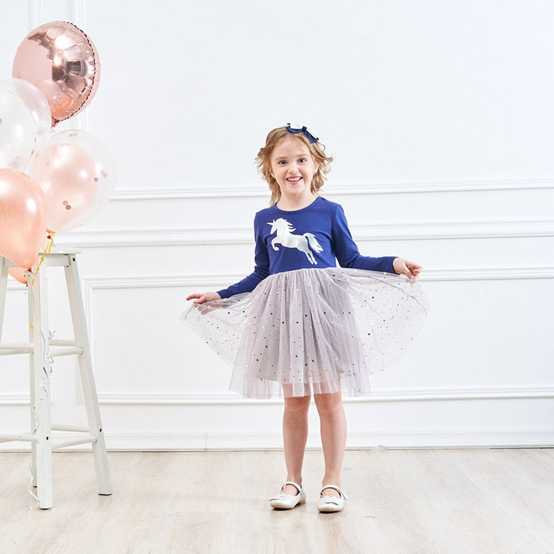 Blue Unicorn Tutu Dress