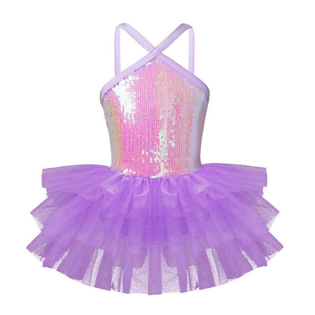 Sleeveless Sequins Tutu Dress