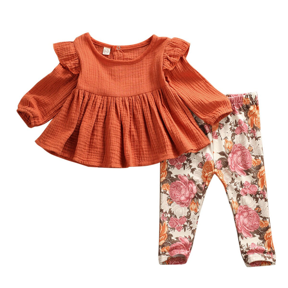Lovely Floral 2Pcs Set