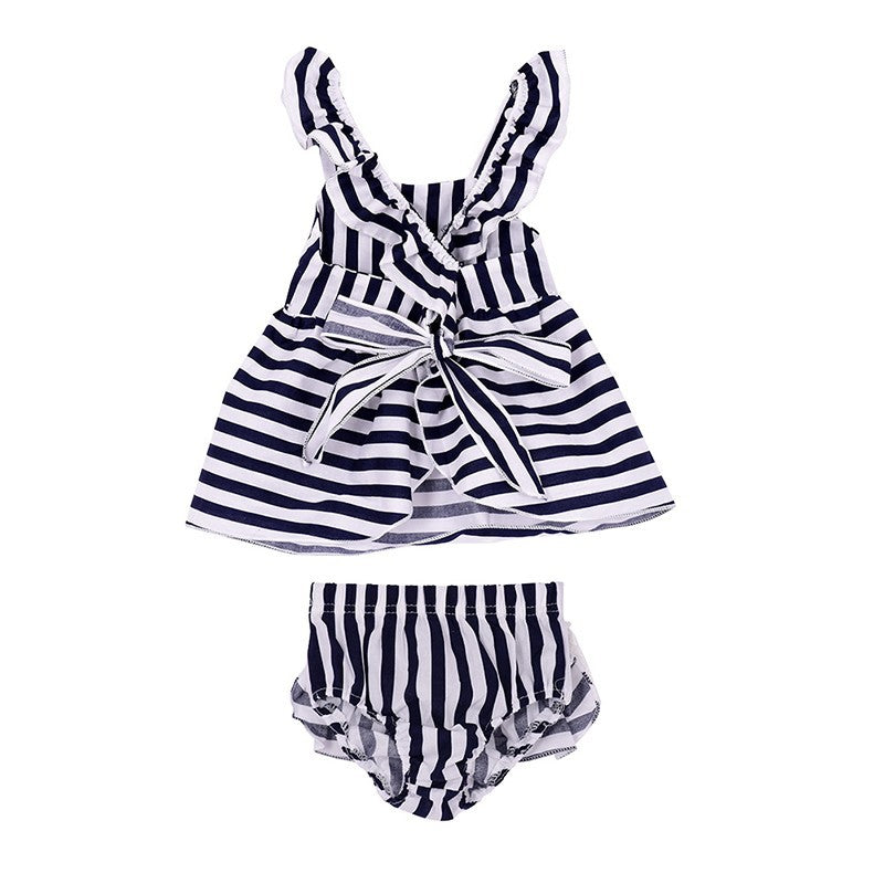 Striped Black and White Set