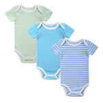 3Pcs Striped Bodysuit Set