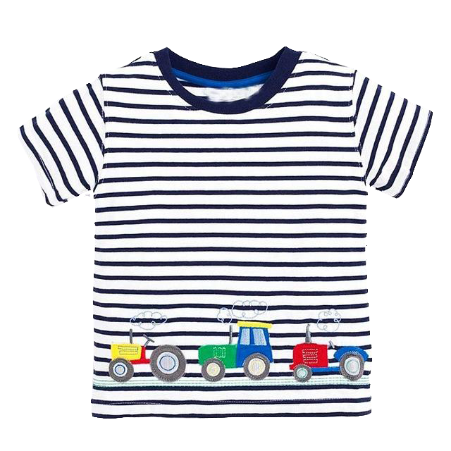 Striped Tractors Tees
