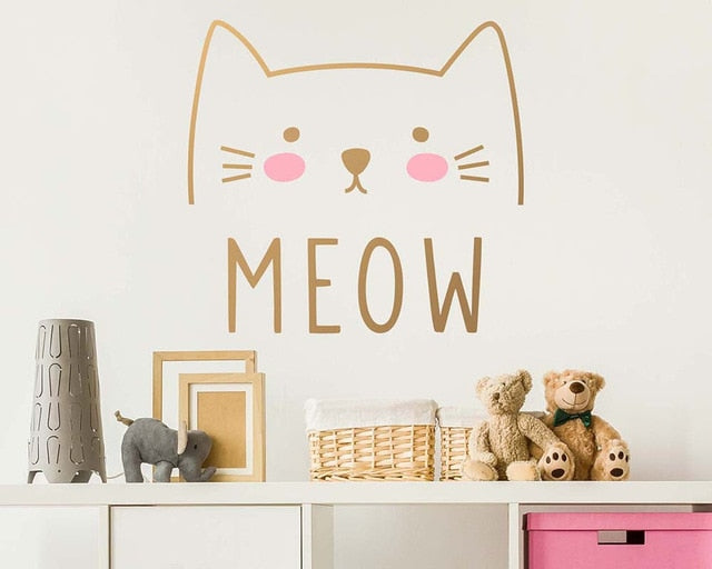 Cute Cat Meow Sticker
