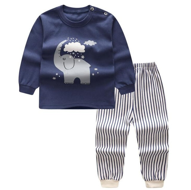 Cute Elephant Navy Set