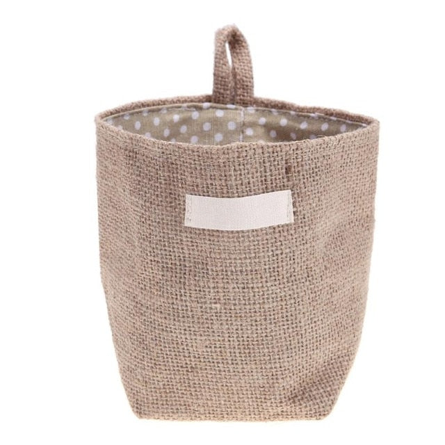 Jute Storage Bag with Handles