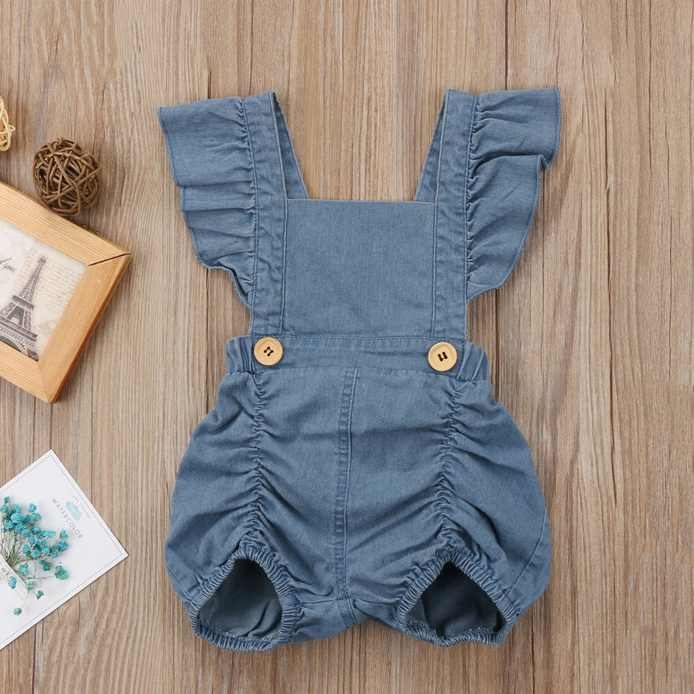 Denim Sleeveless Romper