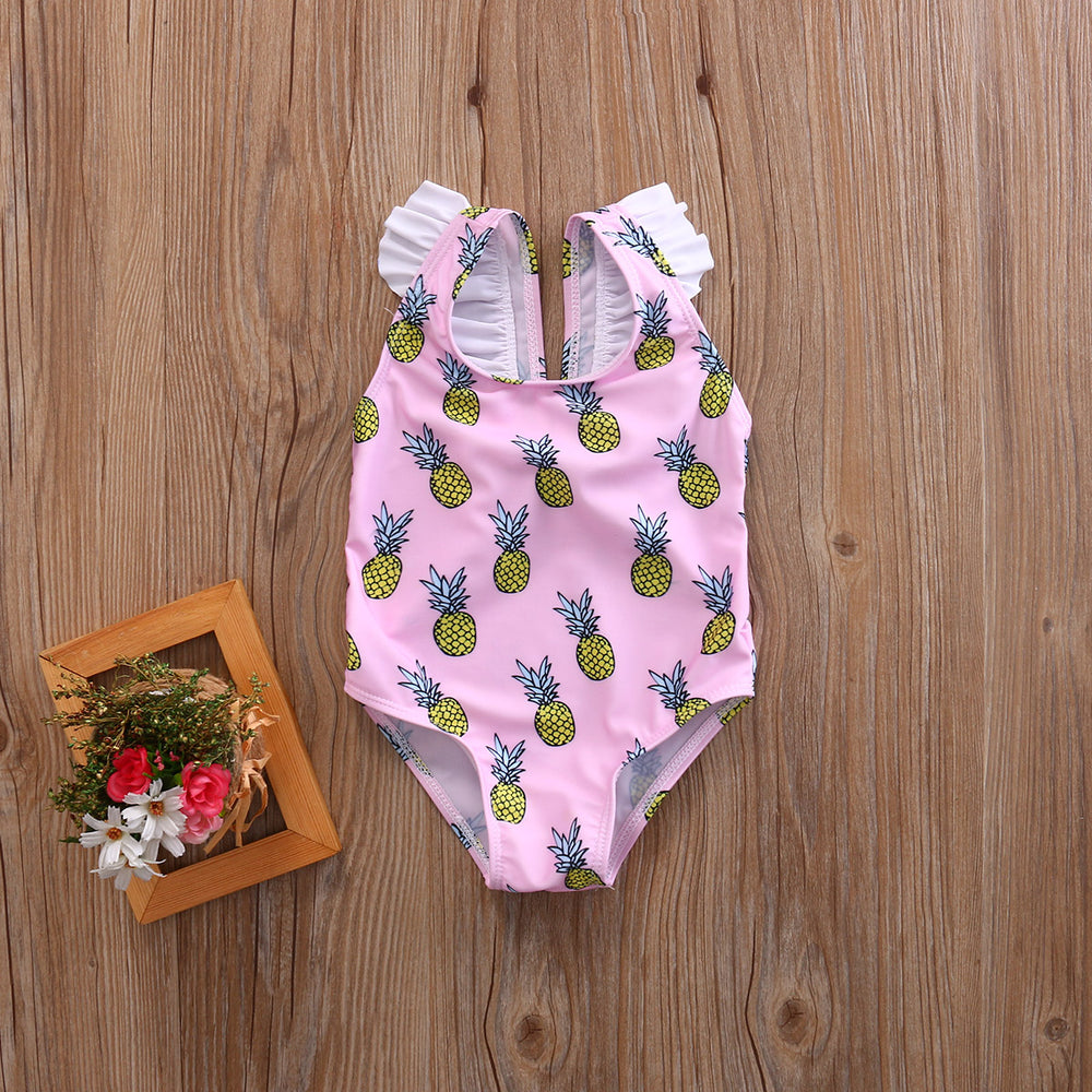 Pineapple Ruffled Swimsuit